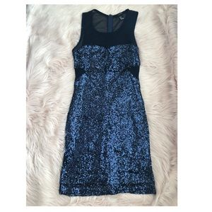 Blue Sequin Dress from Forever 21